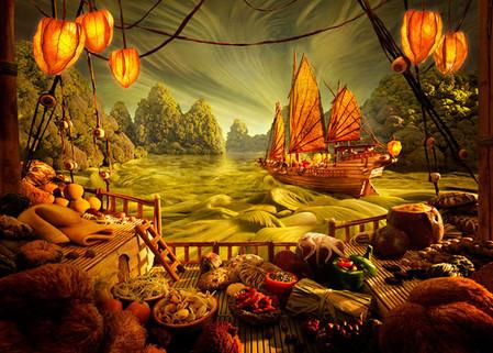 Уникальные пейзажи из еды Карла Уорнера — фото 9