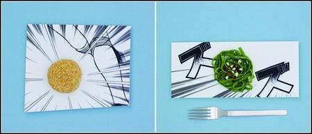 Еда служит дополнением к рисунку
