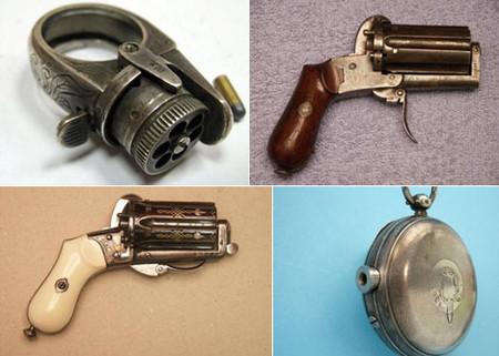 Пистолеты в виде кольца, часов, распятия...