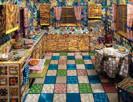 Кухня-мечта созданная из бисера. Инсталляции Лизы Лу — фото 1