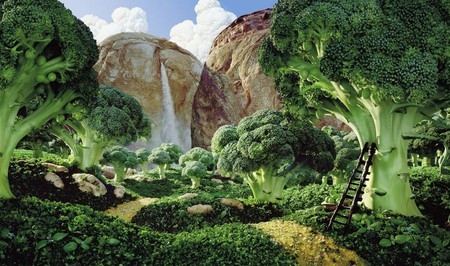 Уникальные пейзажи из еды Карла Уорнера — фото 1
