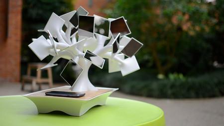 Солнечные батареи в виде листочков дерева Бонсаи