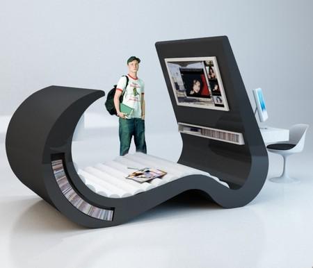 Мебель в стиле хай-тек для студентов и подростков