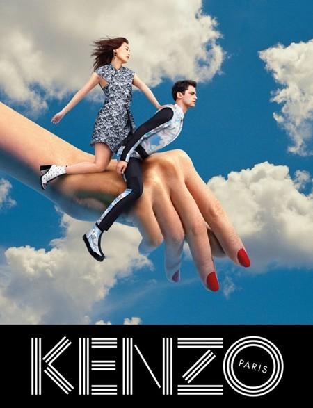 Оригинальные сюрреалистические коллажи в рекламной кампании Kenzo для коллекции осень-зима 2014 — фото 3
