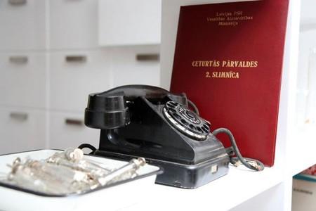 Некоторые предметы ресторанной атрибутики предоставлены латвийским Музеем истории медицины
