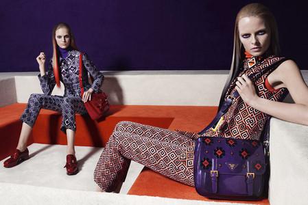 Новые веяния Prada в осеннее-зимней коллекции 2012-2013. Одежда — фото 12