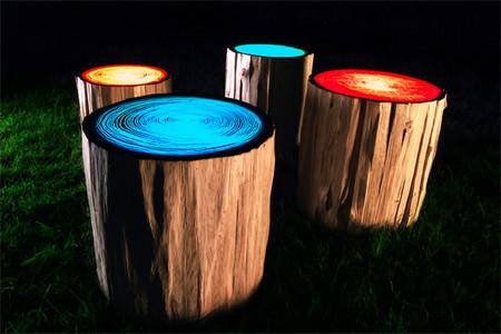 Ночью светильники