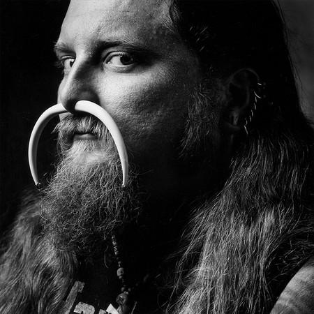Грег Уилкинсон по прозвищу «Нога». Гэри,Индиана. Мотоцикл Harley-Davidson Panhead