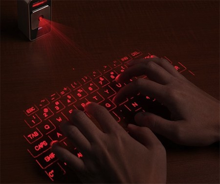 Изображение проекционной клавиатуры очень яркое и четкое