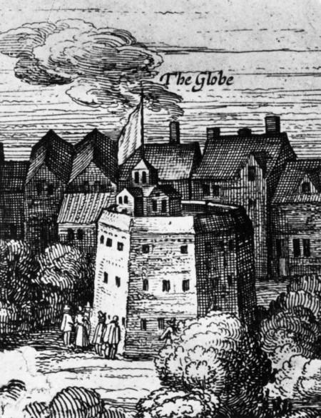 Старинная гравюра театра в период средневековья
