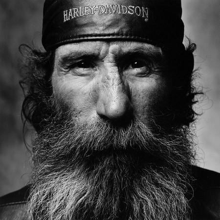 Джон Свендеман по прозвищу «Папаша Время». Пейдж,Аризона. Мотоцикл Harley-Davidson Springer Softail, 1988
