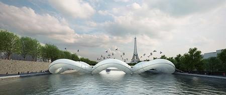 Мост соединяет два берега Сены