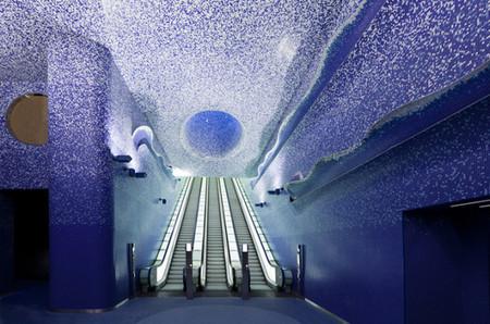 Стихия света и воды: Феерическая станция метро Toledo Metro Station — фото 3
