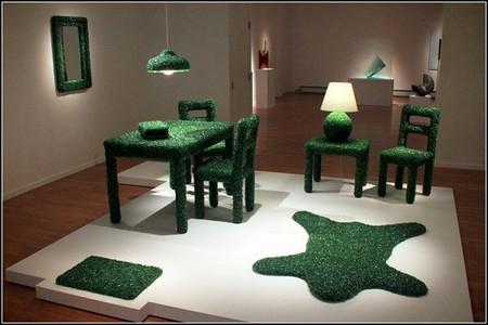 """""""Изумрудная"""" мебель из осколков стекла от Марка Рейгельмана — фото 1"""