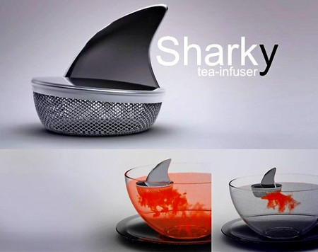 Осторожно, в чашке акула! Заварник Sharky Tea Infuser
