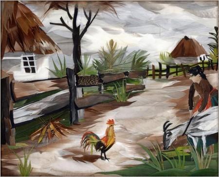 Очень часто в работах художницы можно увидеть сюжеты из жизни украинского села