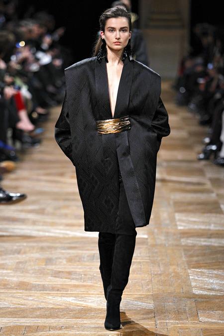 Пальто оversize от Balmain