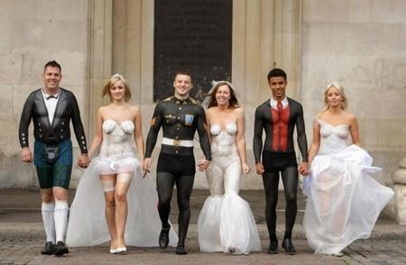 Свадебные платья боди-арт