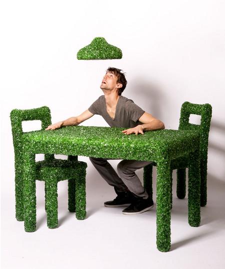 """""""Изумрудная"""" мебель из осколков стекла от Марка Рейгельмана — фото 7"""