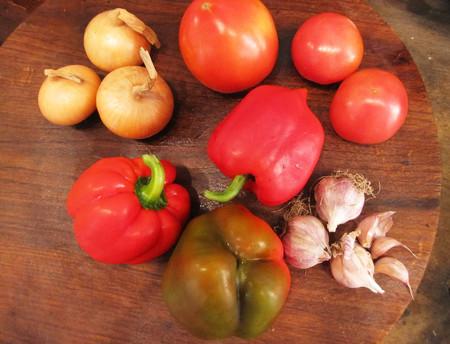 Овощное ассорти готово к приготовлению