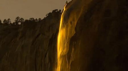 Огненный водопад Horsetail Fall - природное чудо Северной Америки — фото 8