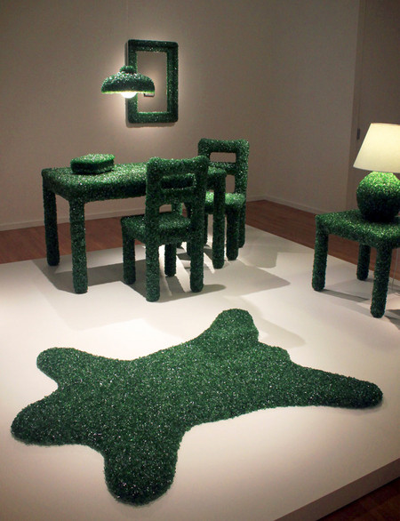"""""""Изумрудная"""" мебель из осколков стекла от Марка Рейгельмана — фото 5"""