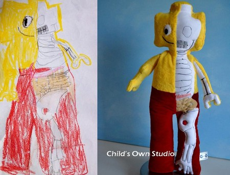 Мягкие игрушки от Венди Цао, сделанные по рисункам детей — фото 38