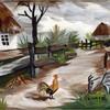 Картины-аппликации из перьев Марины Нестеровой
