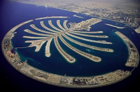 ОАЭ. Остров Пальма Джумейра в Дубае.