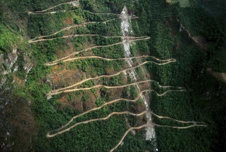 Перу. Дорога Hiram Bingham, ведущая к Мачу-Пикчу.
