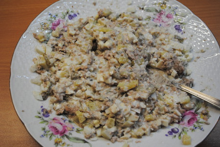 Тарталетки с салатом из печени трески — фото 8