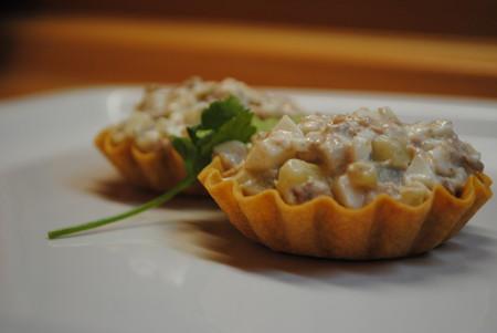 Тарталетки с салатом из печени трески — фото 1