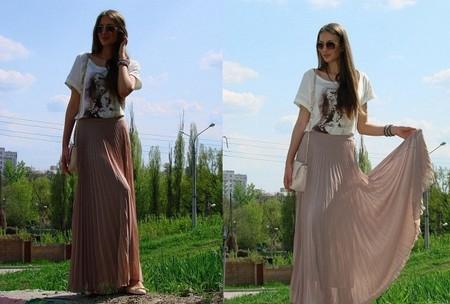 Длинная плиссированная юбка Rare Pleated Maxi Skirt  от Аsos- легкость и изыск грядущего лета. — фото 5