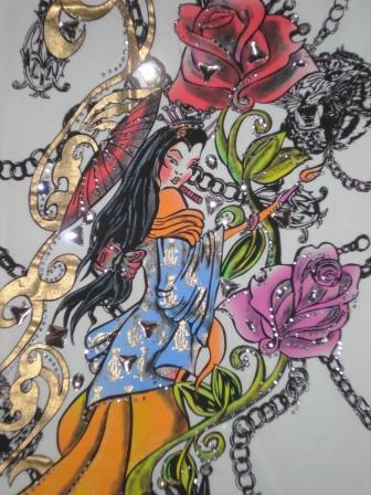 Платье от Christian Audigier с рисунком Ed Hardy — фото 7