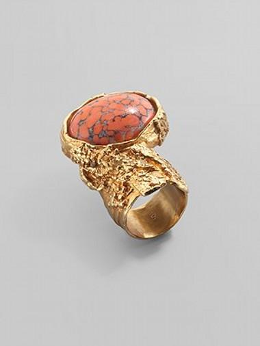 Необычное кольцо от YSL Arty Oval Ring — фото 3