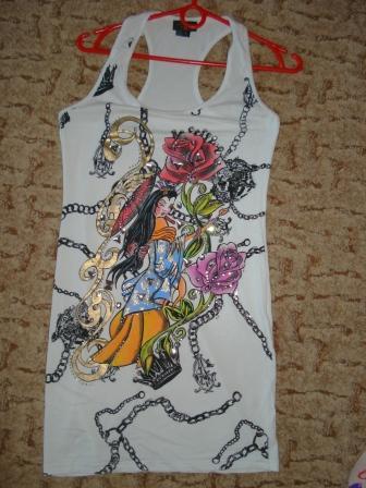 Платье от Christian Audigier с рисунком Ed Hardy — фото 4