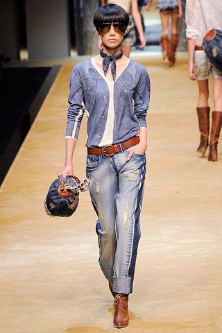 Современная мода на женские джинсы — фото 2
