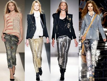 Современная мода на женские джинсы — фото 5