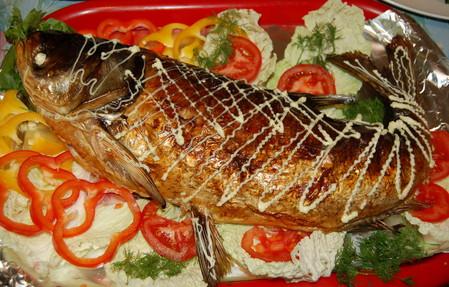 Фаршированная рыба к новогоднему столу — фото 1