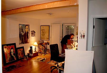 Майк Стилки в мастерской