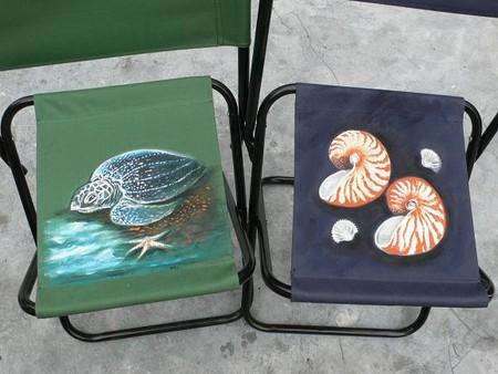 Морские мотивы на стульях