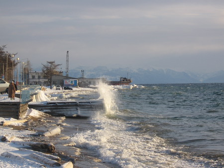 Байкал. Поселок Листвянка. Зима — фото 4