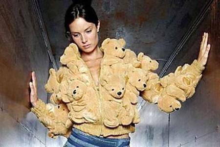 Куртка из медвежат.