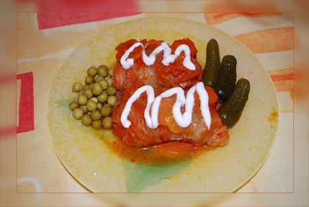 Голубцы из пекинской капусты с гречкой и мясом — фото 1