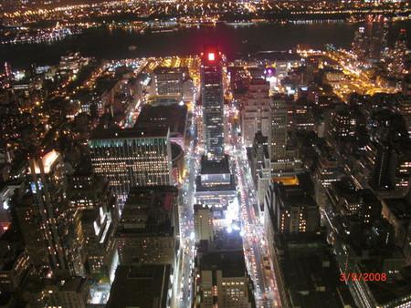 Ночной город с высоты птичьего полета