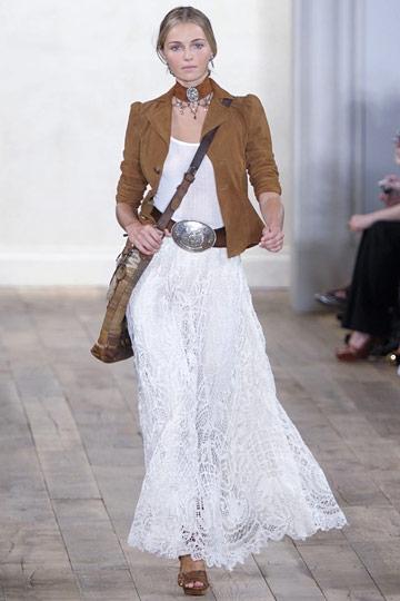 Замша и кружево в коллекции Ralph Lauren весна-лето 2011