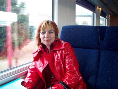 В поезде