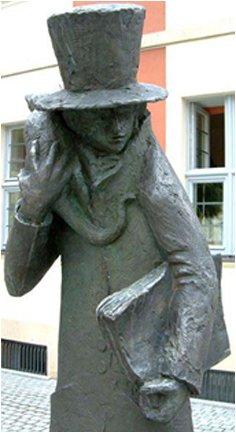Памятник Гофману и коту Мурру в Бамберге