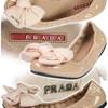 Модные и удобные балетки от PRADA.