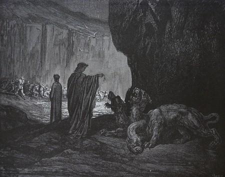 Cerberus ( Гравюра Гюстава Доре)